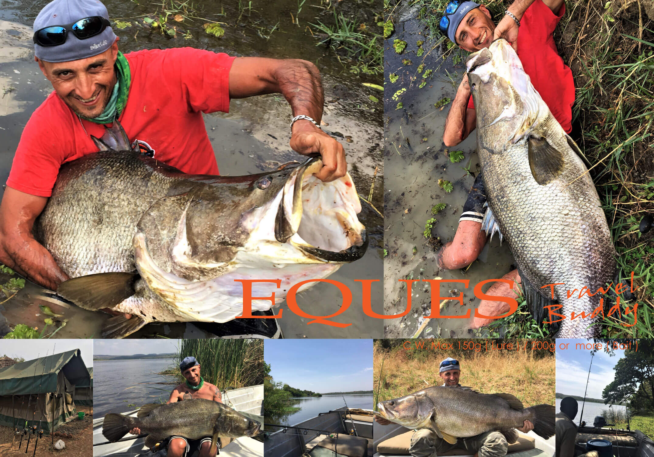 Nile perch on EQUES expedition rod